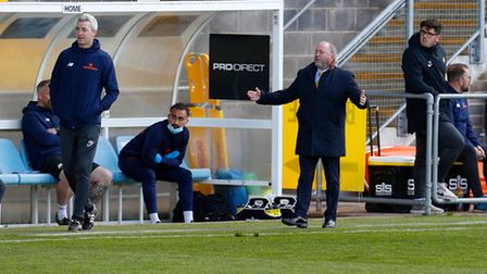 Gary Johnson, Manager of Torquay United during the National League match between Torquay United and