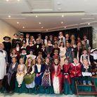 Chard School pupils and staff mark their school's 350th anniversary