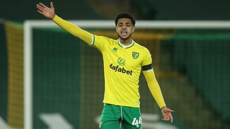 Andrew Omobamidele of Norwich during the Sky Bet Championship match at Carrow Road, NorwichPicture