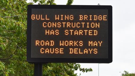 Construction is under way with possible delays from roadworks as part of the new £126.75m Gull Wing bridge in Lowestoft.