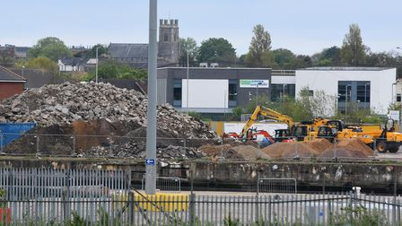 Construction is under way and site clearance works are continuing as part of the new £126.75m Gull Wing bridge in Lowestoft.