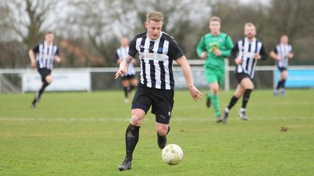 Jon Clements in action for Colney Heath FC
