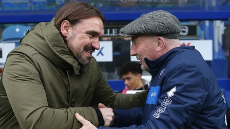 Queens Park Rangers Manager Ian Holloway and Norwich Head Coach Daniel Farke before the Sky Bet Cham