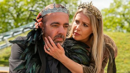 Adam Nichols as Leontes andLucy Crick as Hermione inA Winter's Tale.