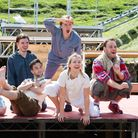 The cast of Peter Pan at the Roman Theatrein St Albans.