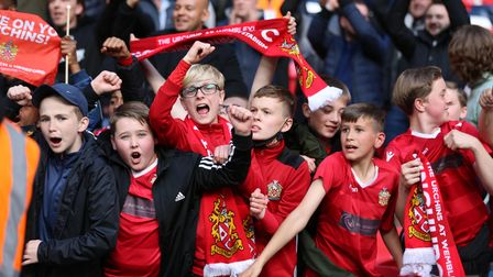 Hornchurch fans celebrate winning the FA Trophy final against Hereford at Wembley
