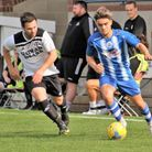 Clevedon Town in action against Roman Glass St George