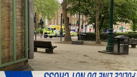 A 43-year-old manwas injured in a crash with a police car in City Road
