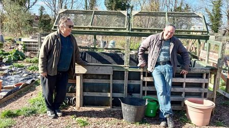 Growing People volunteers and gardeners at The Letchworth Centre for Healthy Living