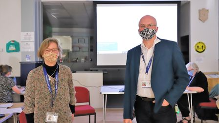 Portishead Town Council chairman Patricia Sterndale and vice-chair Paul Gardner.