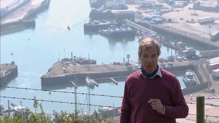 Nigel Farage detailing his 'exclusive' invasion scoop for his viewers. Photo: Screen Grab