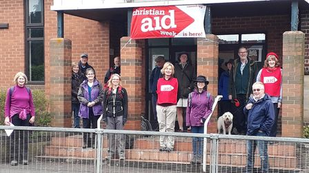 The walk for Christian Aid raised more than £5000.