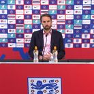 Screen grab taken from a squad announcement press conference of England manager Gareth Southgate. Is