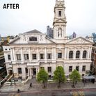 Shoreditch Town Hall was cleanedfor the first time in its 155 year history in April