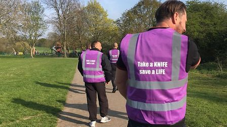 Knife crime campaign group patrol Harold Hill streets