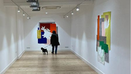 The opening weekend of the Broadway Gallery in Letchworth.