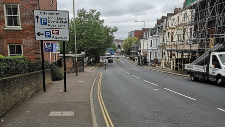 The leak on Thorpe Road has been fixed. Picture; Ruth Lawes