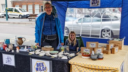 Bee Wild stall at the Sustainability Market.