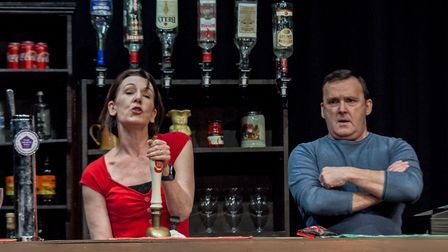 Jill Priest and Mark Dawsonstar in Two at the Abbey Theatre in St Albans.