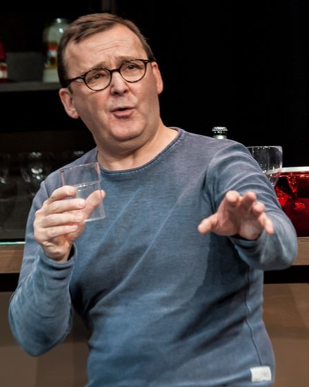 Mark Dawson stars in Two at the Abbey Theatre in St Albans.
