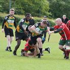 Hatfield QE RFC in action against Harlow