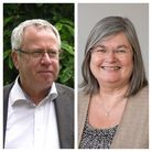 Liberal Democrat leader Cllr Chris White and Conservative chief Cllr Mary Maynard.