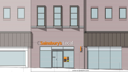 A view of the new proposed Sainsbury's for Hampstead High Street