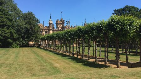 The gardens of Knebworth House.