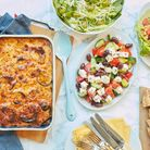 Moussaka and salads from new Crouch End restaurant Kalimera