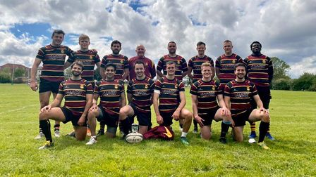 Hampstead's match day squad at the Hendon 7s tournament