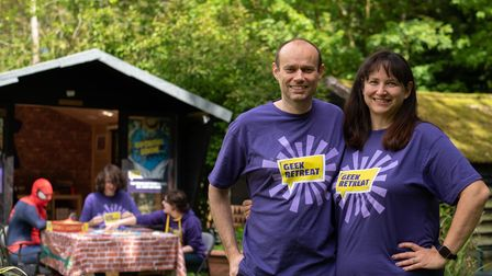 Geek Retreat Ipswich franchisees Sharon Lockhart and Rob Harden at their Bedfield home
