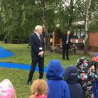 Reydon Primary School's new all-weather track and was opened byStephen Chamberlain and county councillor Michael Ladd