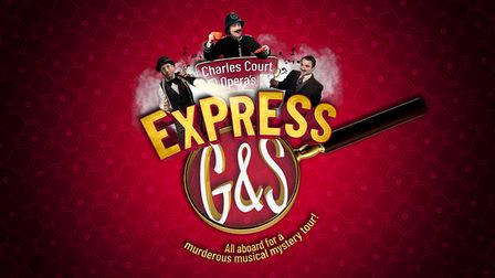 All aboard for Charles Court Opera's Express G&S at the Roman Theatre Open Air Festival in St Albans.