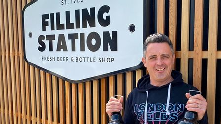 Matt Kelly is the founder of the St Ives Filling Station which is opening on May 29.