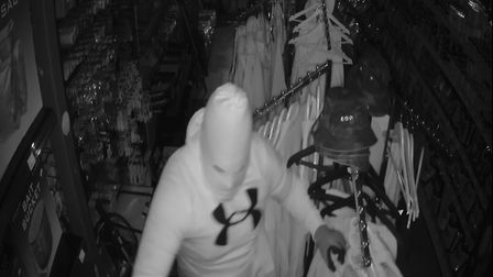 Three men broke into the premises of St Ives Tackle, last Thursday night (May 20)