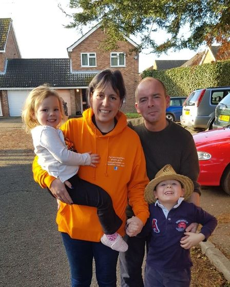 Edison 'Eddie' Rose, seven and from Hevingham, with his mum Sabrina, dadMatt and sister Clara, 4.