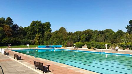 Hitchin and Letchworth outdoor pools (pictured), will reopen this Saturday as May half term begins in North Herts