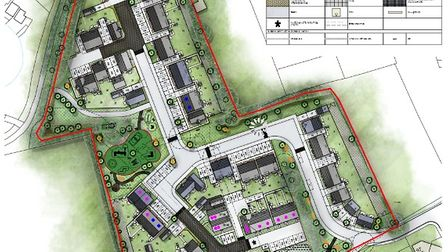 site map of location of housing for Cheddar