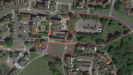 Land in Martlesham Heath where plans for 41 sheltered housing properties were lodged