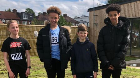 Ilford Athletics Club youngsters after taking part in a track day inWoodford