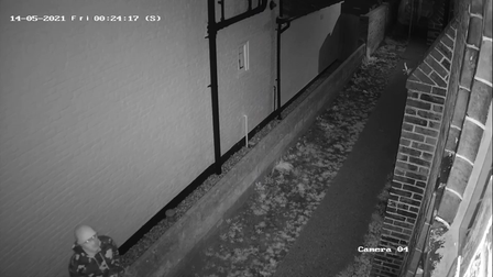 CCTV footage shows man suspected of spraying a swastika on a synagogue