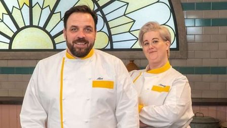 Catering lecturers Alex Harrison and Stacey Martin will appear on Bake Off: The Professionals