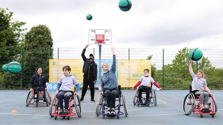 LONDON, ENGLAND - MAY 20: HRH Sophie, The Countess of Wessex, GBR Wheelchair Basketball Internationa