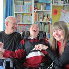 Jim and Julie Paterson from Stevenage with their son Jamie whoattends Aurora Orchard Manor's Skills Development Centre.