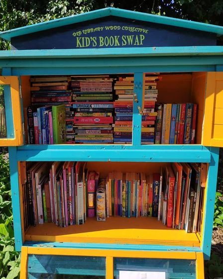 Book swaps at The Old Library Wood site