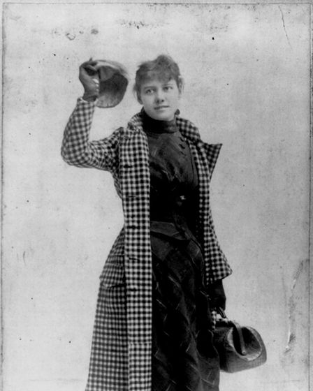 Nellie Bly in her legendary travel attire. Courtesy of Library of Congress LC-USZ62-59924