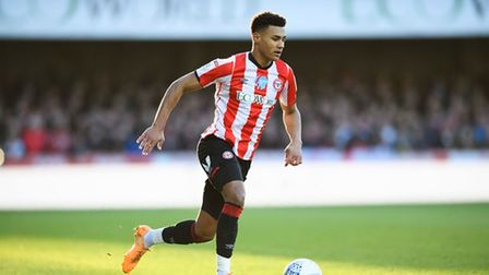 Ollie Watkins of Brentford in possession during the Sky Bet Championship match between Brentford and