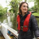 Alice Bushell, 20, Broads Authority assistant ranger, at work on the River Wensum near Bishop Bridge