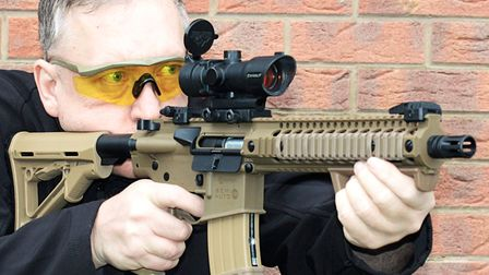 Tim shooting his tricked up R1