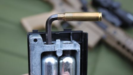 I made a new Allen key for the CO2 bulbs with a spent 5.56mm British Army brass handle
